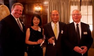 JASP Chairman Steve Ceurvorst with Ambassador and Mrs. Sasae and JASP President Yasuyuki Uruma